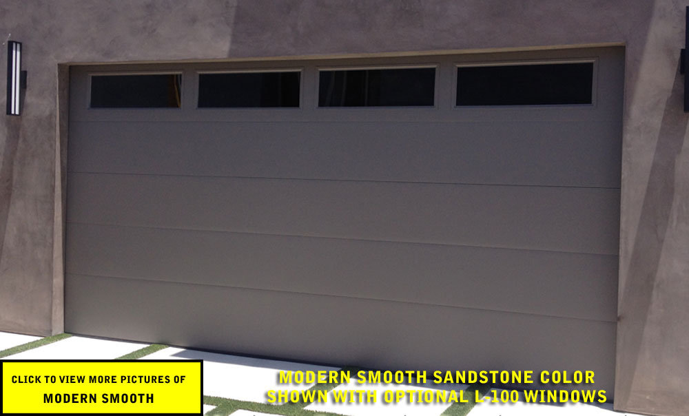 Modern Smooth Garage Door